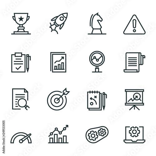 Assessment Icon Set Canvas Print