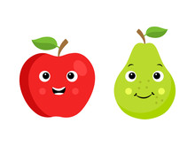 Two Cartoon Fruit Characters I...