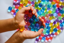 Colored Balls Of Hydrogel In C...