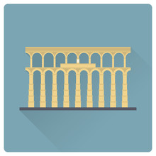 Aqueduct Of Segovia, Spain, Ve...