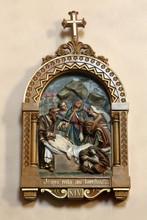 Le Corps De Jésus-Christ Est Mis Au Tombeau. Chemin De Croix. XIV. Eglise Saint-André. Dommancy. / The Body Of Jesus Christ Is Put To The Grave. Path Cross XIV. St. Andrew's Church. Domancy.