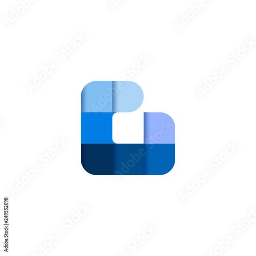Initial Letter G Square Pixel Logo Design Inspiration In