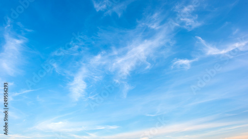 Obraz Clouds on a blue sky as background - fototapety do salonu