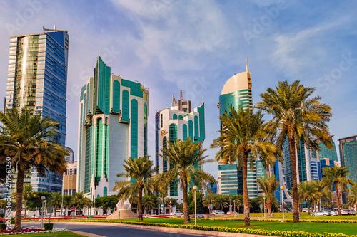 In de dag Doha citi view. Qatar.