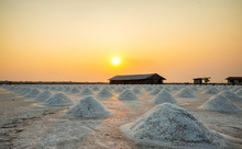 Sea Salt Evaporation Pond In P...