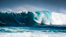 Waves Breaking On The Coast Of...