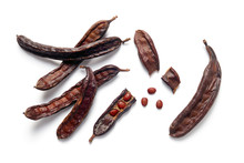 Carob Bean Pods And Seeds