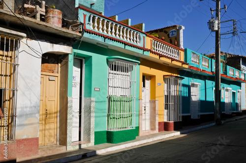 Stadtansicht, Straßenszene, Trinidad, Kuba Canvas Print