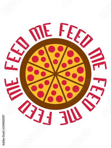 Fotografía  pizza fast food ungesund ring kreis rund logo feed me design füttere mich lecker