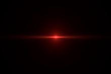 Anamorphic Lens Flare On Black...