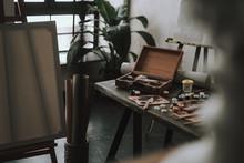 Art Studio At Daytime With Art...