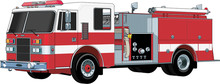 Fire Engine Vector Illustration