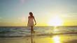 Girl in White on Paradise Beach