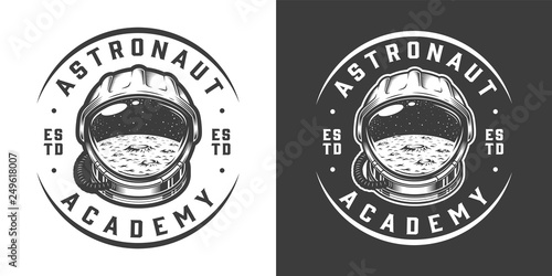 Fotografiet  Vintage monochrome space logo