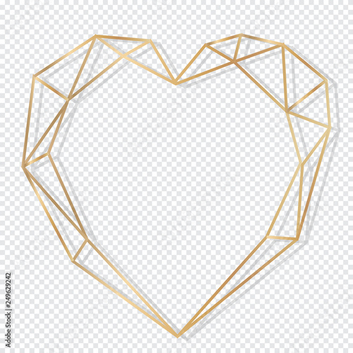 Gold Frame Design isolate on transparent background Obraz na płótnie