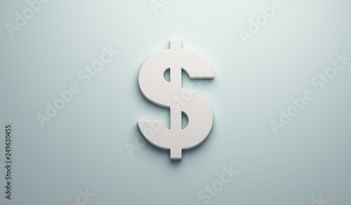 Fényképezés  Dollar Sign - Business and Finance . 3D Render Illustration