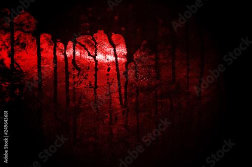 Obraz na płótnie bloody metal wall  in the dark