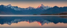 Snowy Mountain Range Reflected...