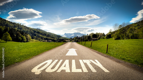 Obraz Sign 401 - Quality - fototapety do salonu