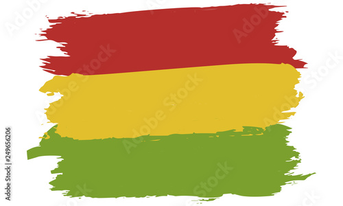Fotografie, Obraz  Pan-African colors flag: red, gold (yellow), green
