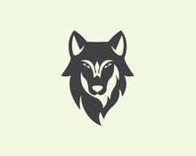 Head Wolf Logo Design Inspirat...