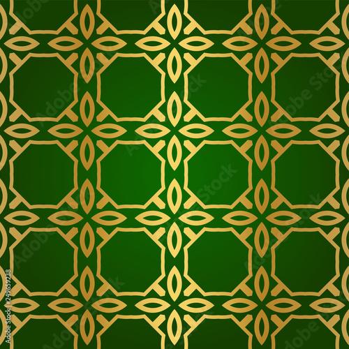 Luxury Seamless Geometrical Linear Texture. Original Geometrical Puzzle. Back...