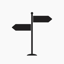 Signpost Vector Icon
