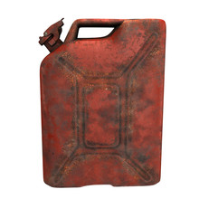 Fuel Canister Red Rusty On An ...
