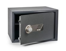 Cash Money Safe Deposit Box Isolated On White