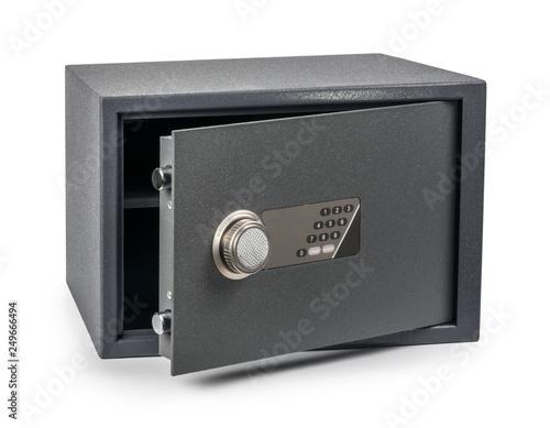Fototapeta Cash Money safe deposit box isolated on white obraz