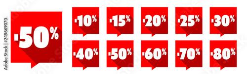 Photo  Etiquettes réduction / Pourcentages