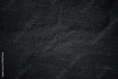 Fototapety, obrazy: Dark grey black slate background or natural stone texture.