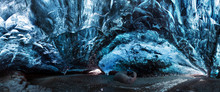 Blue Crystal Ice Cave And An U...