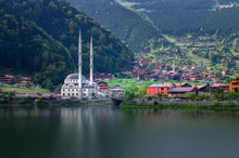 Mosque On The Mountain Lake Uz...