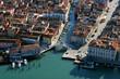 canvas print picture - Italien, Chioggia, Luftbild, Uebersicht