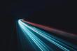 canvas print picture - Daten-autobahn in der Nacht