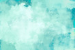 canvas print picture - Mint/ Türkis Wasserfarben Hintergrund