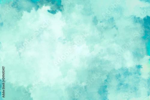 canvas print motiv - ProdoBeutlin : Mint/ Türkis Wasserfarben Hintergrund