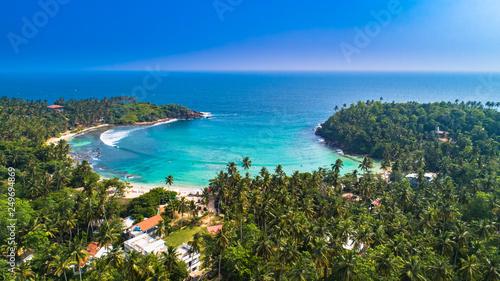 Fototapeta Aerial. Surf beach Hiriketiya, Dikwella, Sri Lanka.