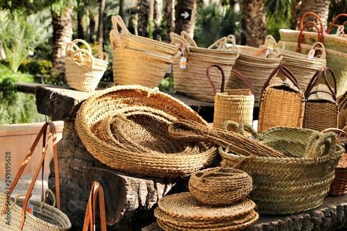 Fotografía  Traditional craft hemp baskets in Elche, Spain