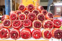 Close Up Pomegranate Fruits