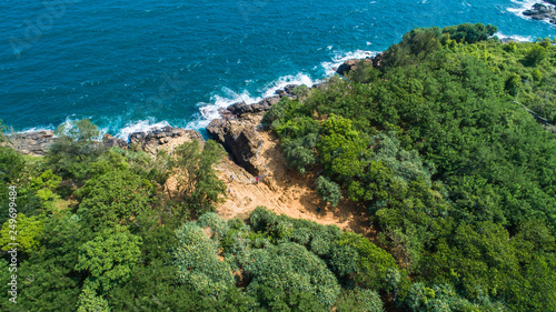 Valokuva  Aerial. Blow Hole (Hummanaya). Dikwella, Sri Lanka.