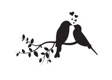 Birds On Branch, Wall Decals, ...