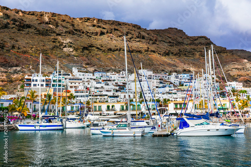 Gran Canaria holidays - beautiful Puerto de Mogan, popular tourist attraction. Canary islands
