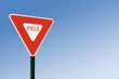 canvas print picture - Yield Sign Against Blue Sky