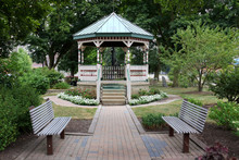 Gazebo, Flowers, And Benches