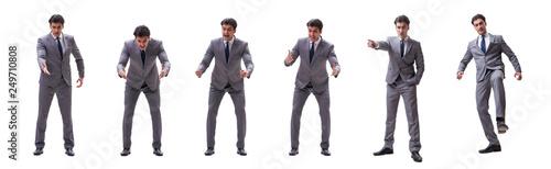 Fotografie, Obraz  Businessman isolated on the white background