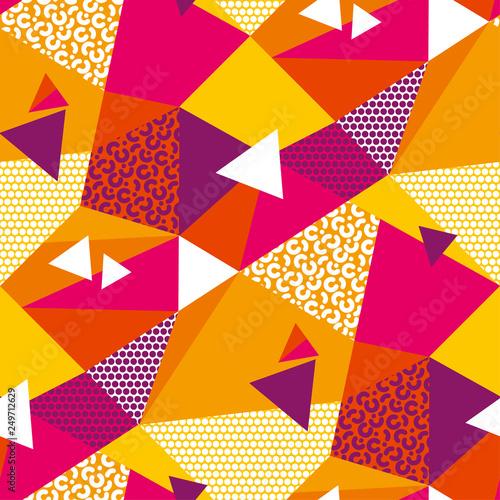 Fototapeten Künstlich Abstract geometric shapes color seamless pattern