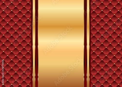 Photo  Brauner Stepphintergrund mit goldener Dekoration und Nieten