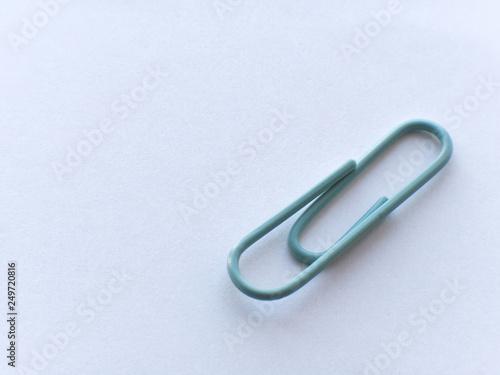 Fotografie, Obraz  Pastel color paper clips.